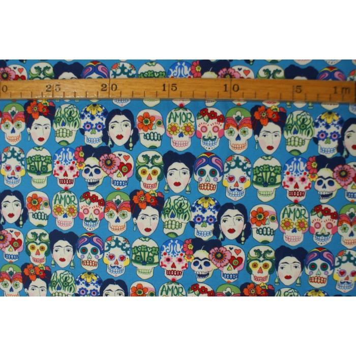 "Frida Kahlo - ""Art Gallery Fabrics"" bomuldsjersey"