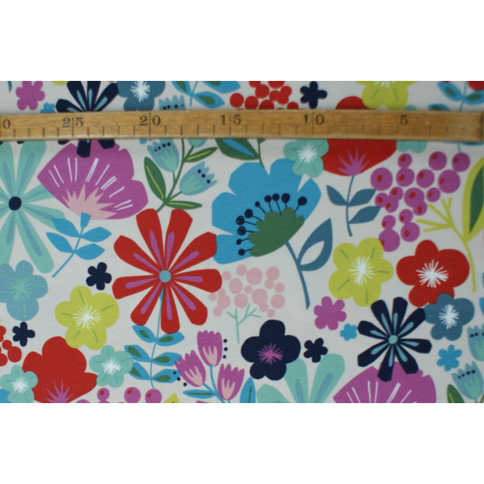 "Retro Blomster - ""Art Gallery Fabrics"" bomuldsjersey"