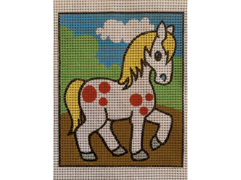 Stramaj broderi - hest hvid