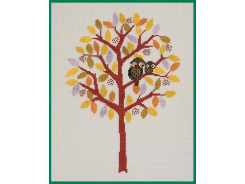 Broderi- Træ, Efterår