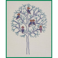 Broderi- Træ, Vinter
