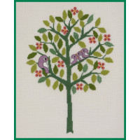 Broderi- Træ, Sommer