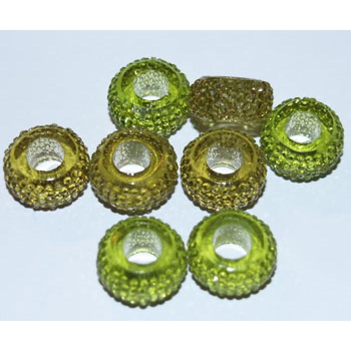 Harpiks perler- Grøn