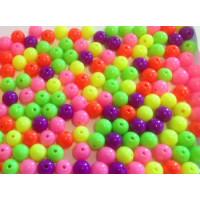 Plastik perler- Neon 6 mm