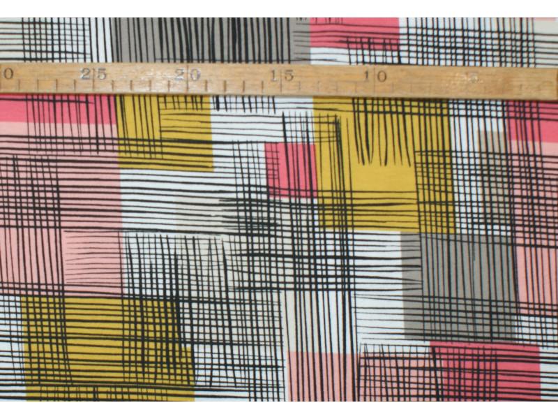"Grafisk patchwork - ""Art Gallery Fabrics"" bomuldsjersey"