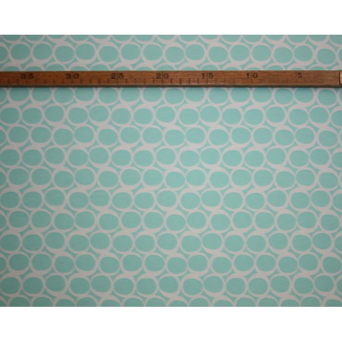 """Grafiske cirkler mint - """"Art Gallery Fabrics"""" bomuldsjersey"""