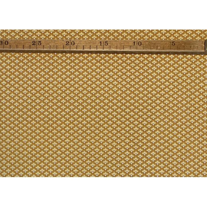 Bomuldslærred- Art deko okker