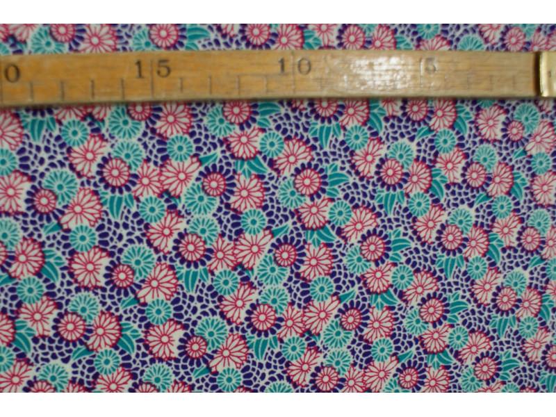 Bomuldslærred- Blomster nr. 1002