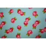 Bomuldslærred- Roser