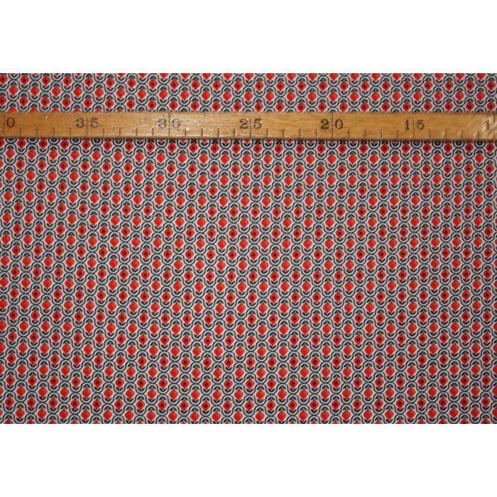 Bomuldslærred- Grafisk blomst