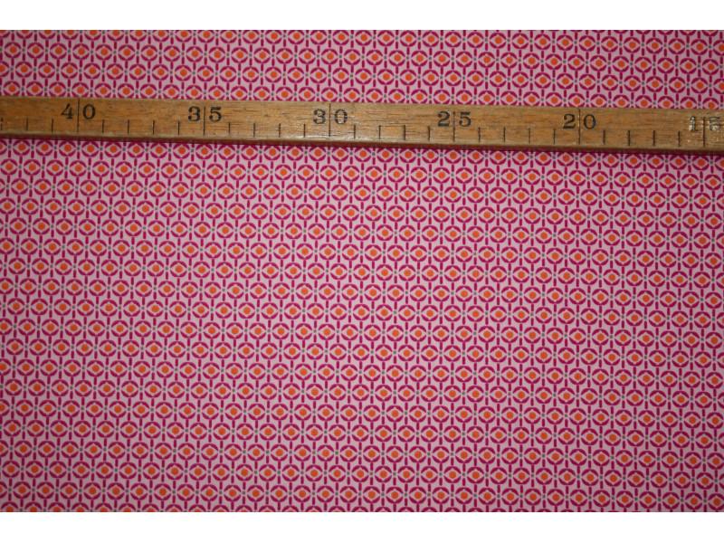 Bomuldslærred- Grafisk lyserød