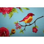 Bomuldslærred- Blå fugl