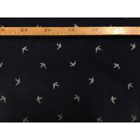 Babyfløjl - Marine m/sølvglimmer svaler