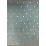 Babyfløjl - Lys Petrolblå m/sølvglimmer svaler