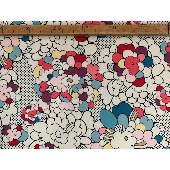 "Blomster grafik - ""Art Gallery Fabrics"" bomuldsjersey"