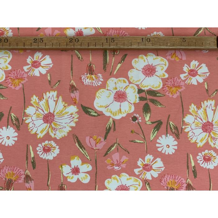 "Blomster mark - ""Art Gallery Fabrics"" bomuldsjersey"
