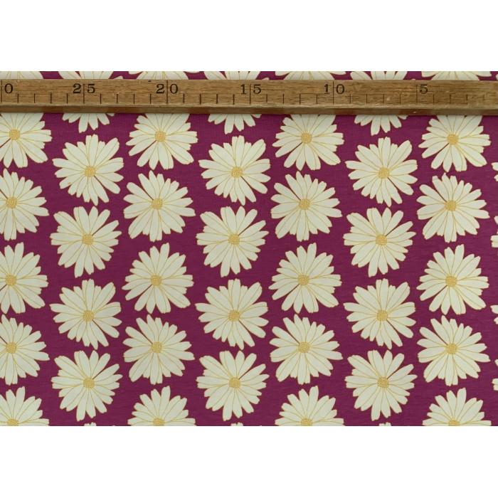 "Yvonne marguerite blomster - ""Art Gallery Fabrics"" bomuldsjersey"