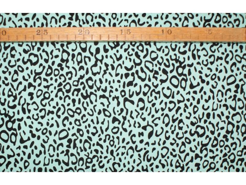 Twill- Mint leopard
