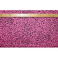 Twill- Pink/sort leopard