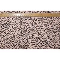 Twill- Melon/sort leopard