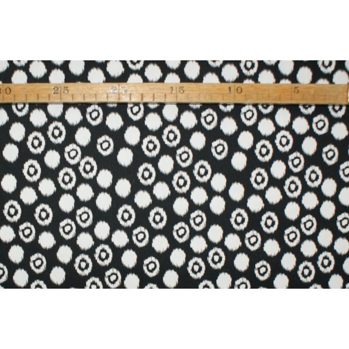 Twill-Prik med mønster sort/hvid