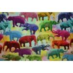 Bomuldsjersey - Elefanter