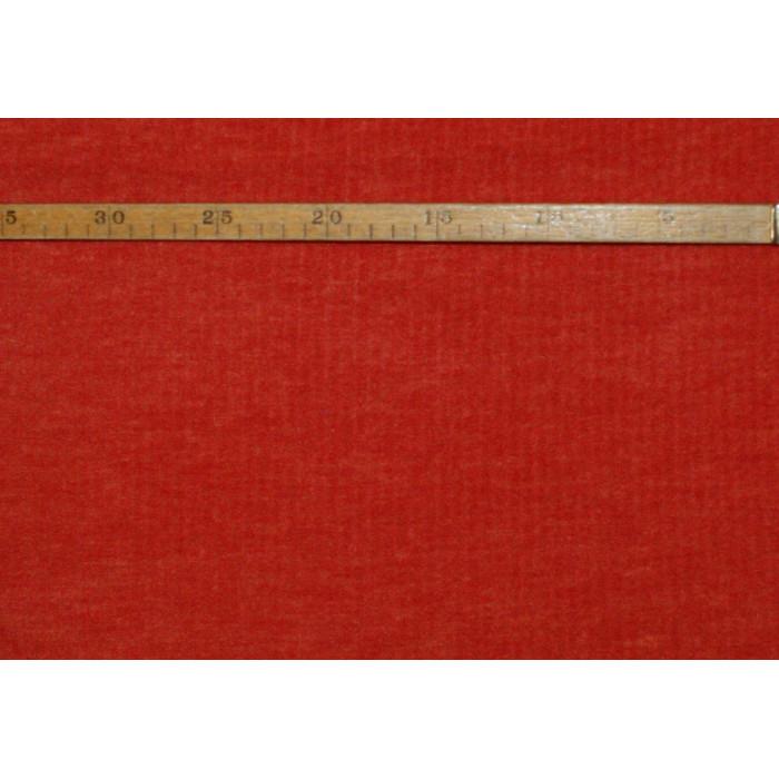 "Strækvelour - Mørk/dæmpet orange, ensfarvet, ""riflet"" kvalitet alá fløjl. Nr. 5058"