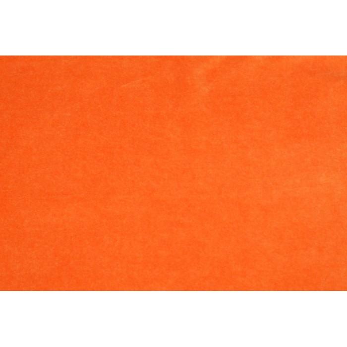Strækvelour - Orange, ensfarvet. Nr. 5007