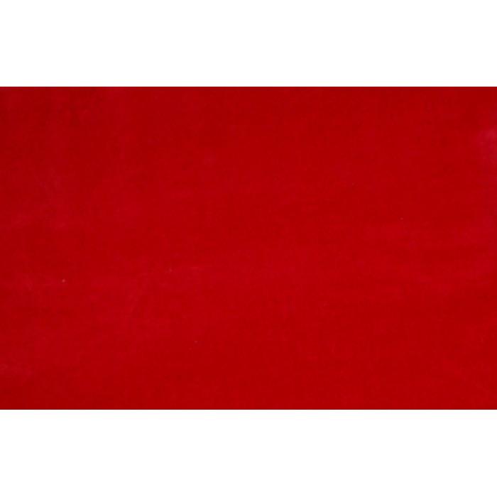 Strækvelour - Rød, ensfarvet. Nr. 5013