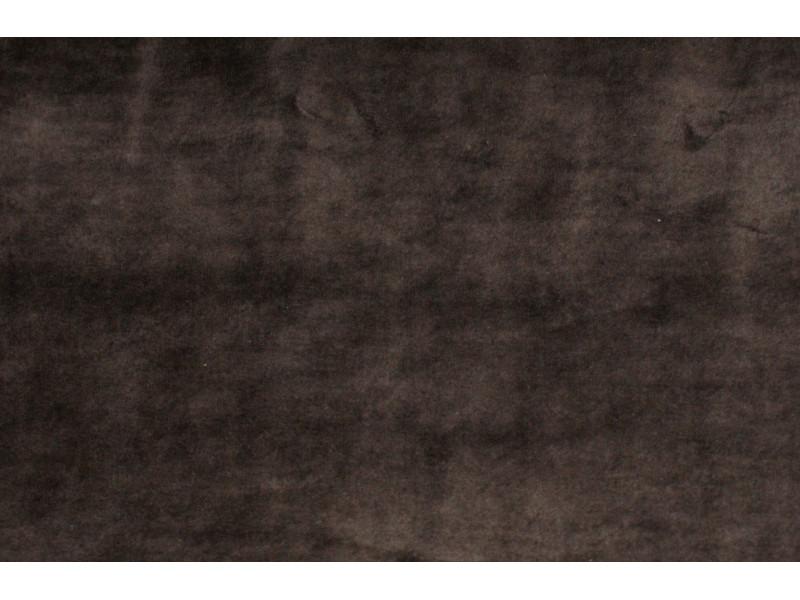 Strækvelour - Brun, ensfarvet. Nr. 5018