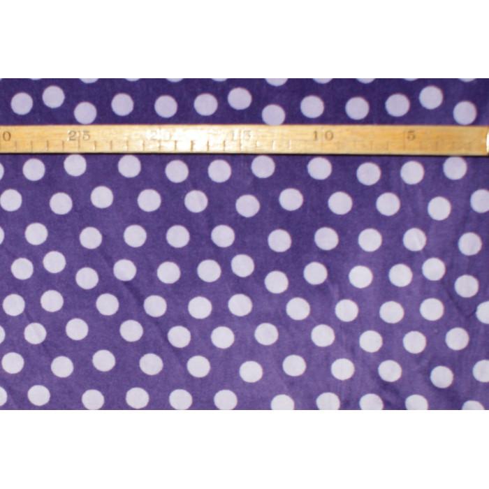 Strækvelour - Mørk lilla bund m/ lys lilla prikker. Nr. 5047