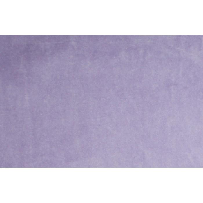 Strækvelour - Lys lilla, ensfarvet. Nr. 5049
