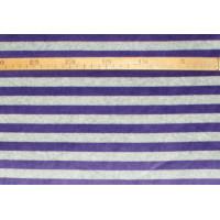 Strækvelour - Grå/mørk lilla striber. Nr. 5052