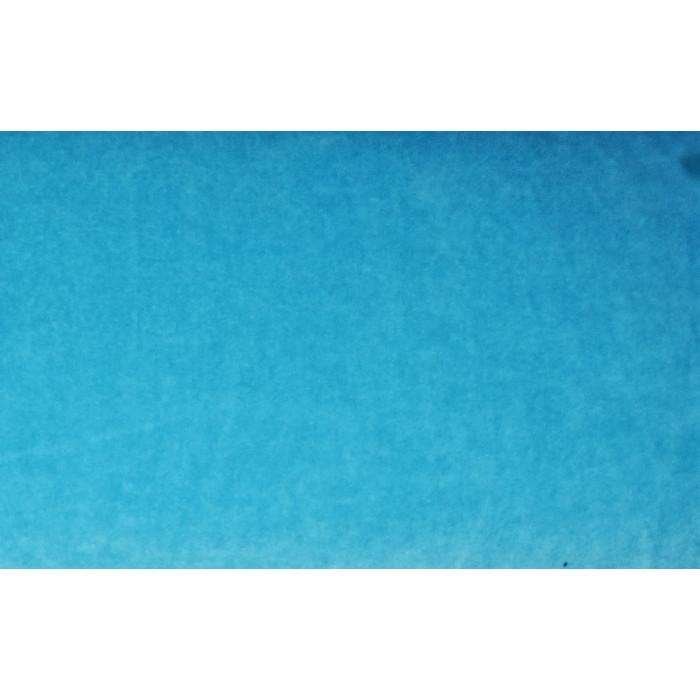Strækvelour - Lys turkis, ensfarvet. Nr. 5068