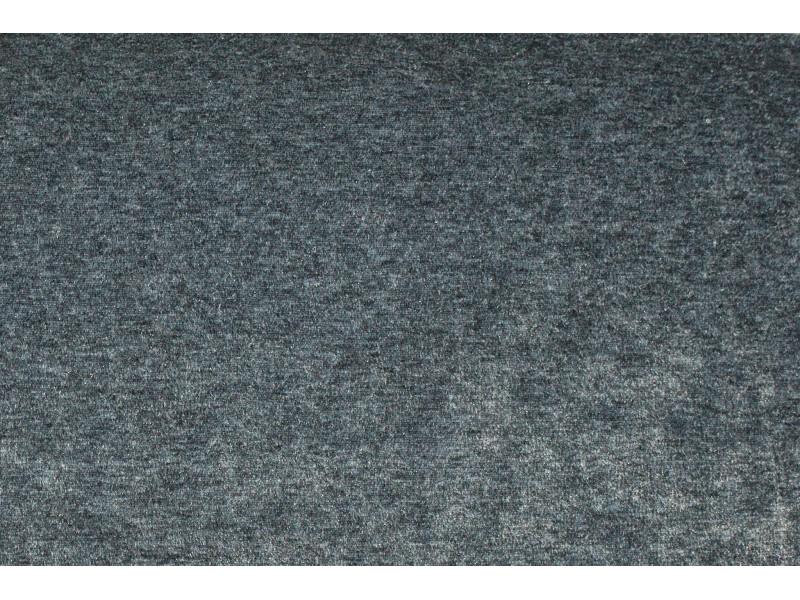 Strækvelour - Meleret mørkegrå. Nr. 5070
