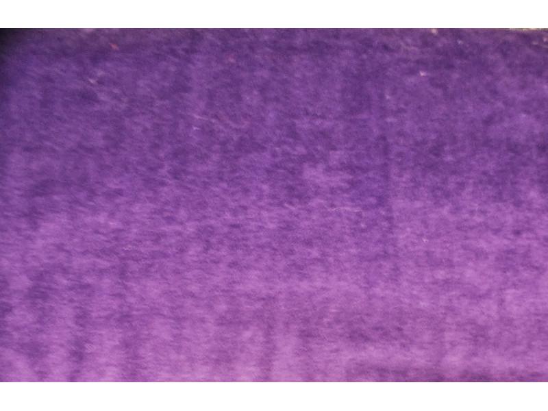Strækvelour - Mørk lilla, ensfarvet. Nr. 5075