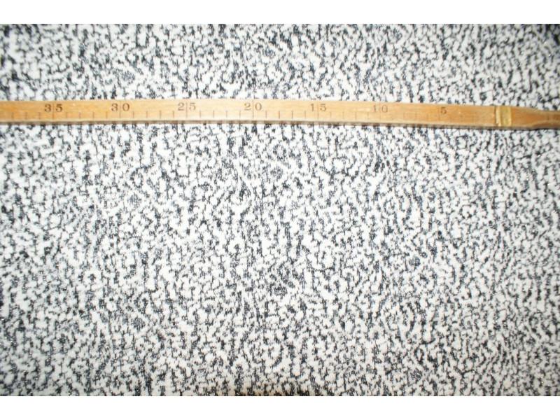 Strik - Sort/knækket hvid-mønster med Lurex