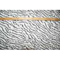 Strik- Zebra stribet med sølvtråde