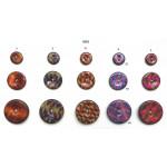 Kokosknapper med dekoreret emalje - Farve 09