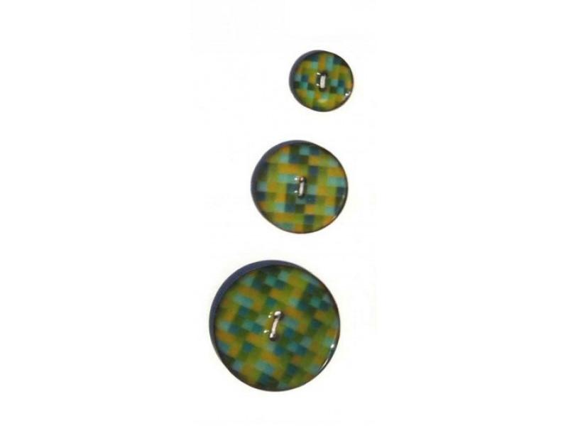 Kokosknapper med dekoreret emalje - Farve 01