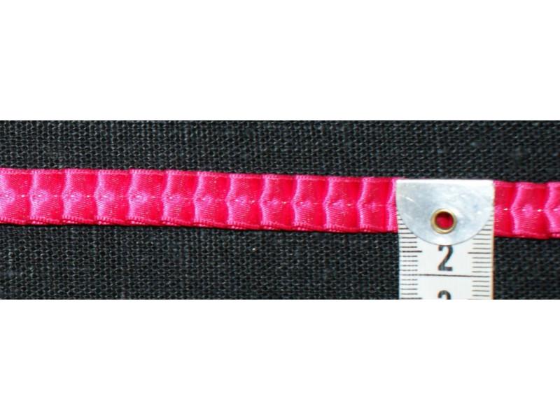 Plisse'bånd- Pink satin plissébånd