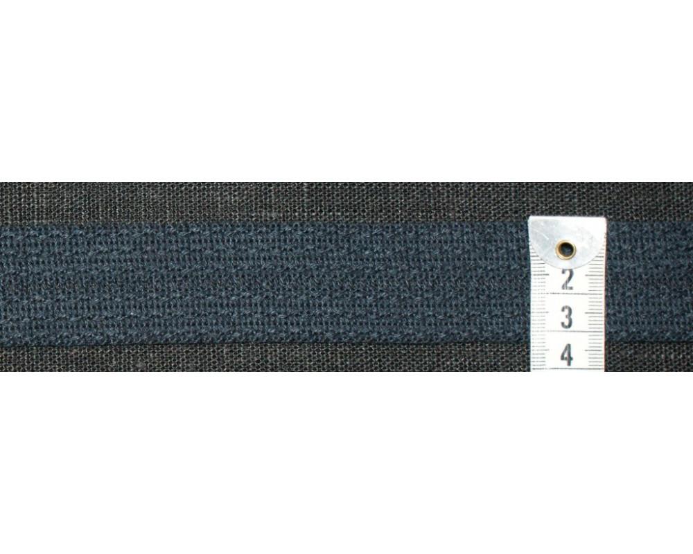 2c8f9b97 Strikket kanbånd- Mørk marineblå