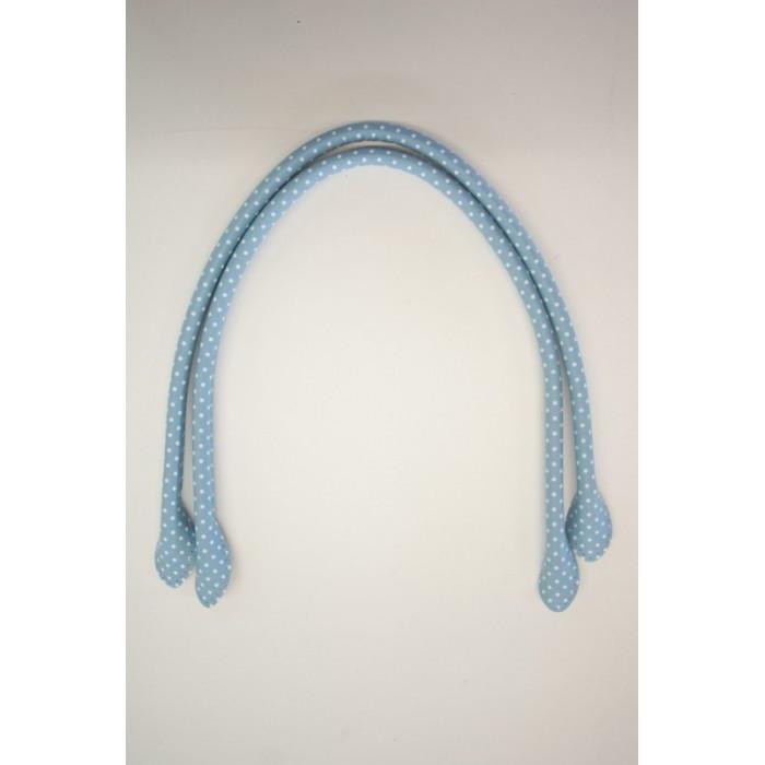 Taskehåndtag- Lys blå med prikker 70 cm